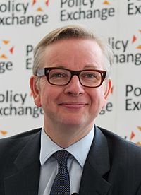 Michael Gove at Policy Exchange delivering his keynote speech 'The Importance of Teaching' (cropped).jpg