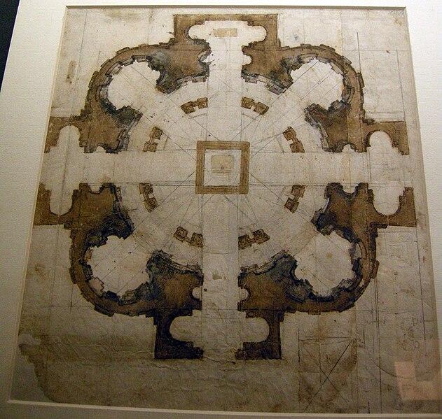 File:Michelangelo, project for san Giovanni de' Fiorentini 01.JPG