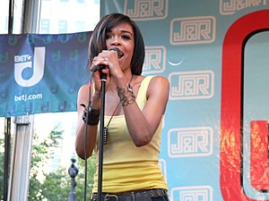 Michelle Williams (singer) - Michelle performing on stage at J&R Musicfest, 2008