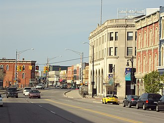 Port Huron, Michigan - Military Road Historic District looking north along Huron Avenue