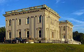 Mills-Livingston Mansion, Staatsburgh State Historic Site, at sunset.jpg