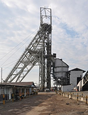 Mopani Copper Mines - Image: Mine head gear South Ore Body, Nkana, MCM