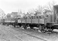 Mit Fuhrwerken beladene Eisenbahnwagen - CH-BAR - 3239453.tif