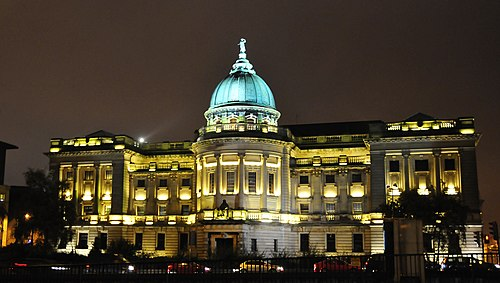 Established by wealthy tobacco merchant Stephen Mitchell, the Mitchell Library is now one of the largest public reference libraries in Europe. Mitchell Library at night - panoramio.jpg
