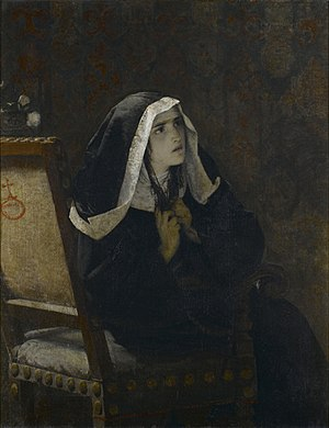 The Nun of Monza - The Nun of Monza, painting by Mosè Bianchi