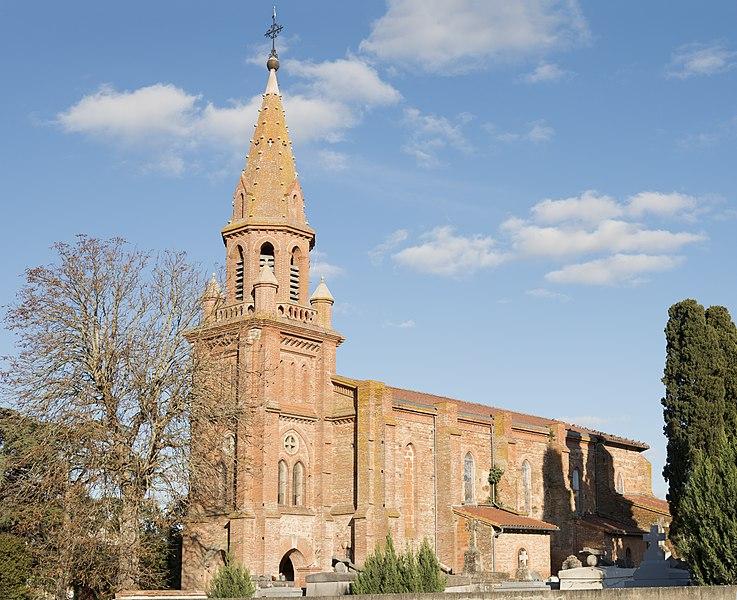 English:  Chuch Saint-Pierre-ès-Lien of Mondonville, Haute-Garonne France - sixteenth century