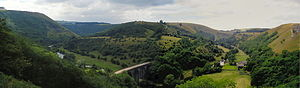 Monsal Dale - Panorama of Monsal Dale and the Headstone Viaduct