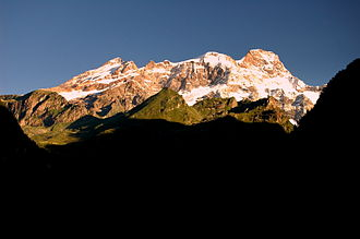 Alagna Valsesia - The  Monte Rosa just before Alagna