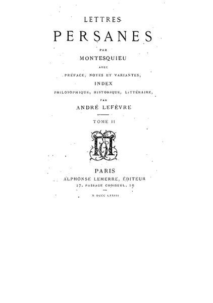 File:Montesquieu - Lettres persanes II, 1873.djvu