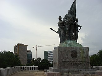 People's Republic of Benin - Place des Martyrs (Cotonou): Monument commemorating the victims of the attempted coup of 1977.