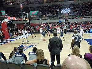 Moody Coliseum - Moody Coliseum SMU versus UConn 25 Feb 2014. The attendance was 4,091, a record for a women's basketball game.