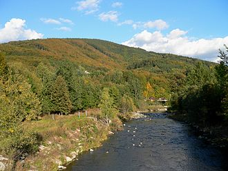 Morávka (river) - Morávka River near Raškovice.