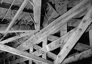 Henry Grow - Trusses were bound with wood blocks and rawhide