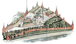 Troitskaya Tower - Image: Moscow Kremlin map Troitskaya Tower