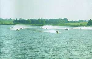 Hydroplane racing - European Motorboat Championship in Żnin (Poland)