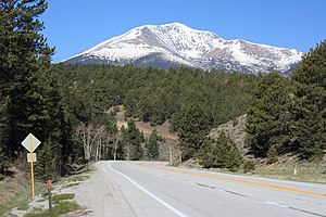 Poncha Pass - Looking west at Mount Ouray from the north side of Poncha Pass before the highway curves north.