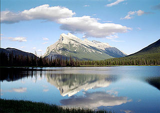Mount Rundle mountain in Banff National Park, Canada