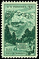1952 Mount Rushmore Stamp Issued in United States