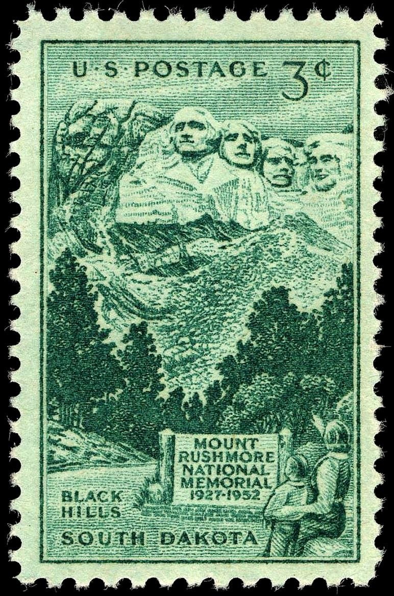 Mount Rushmore stamp 3c 1952 issue