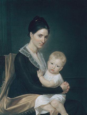 Marinus Willett - Mrs. Marinus Willett (Margaret Bancker) and Her Son Marinus Jr. by John Vanderlyn.  Circa 1802.