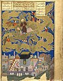 Muhammad during the Isra and Mi'raj - from Nezami's Khamsa dated 1494.jpg