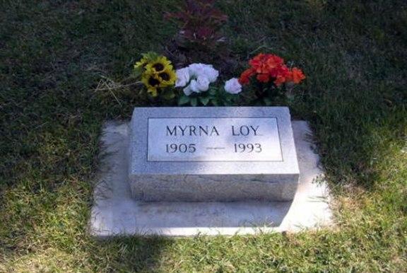 Myrna Loy's grave
