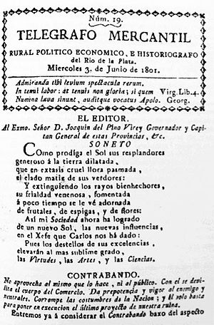 Telégrafo Mercantil - An issue of the Telégrafo Mercantil.