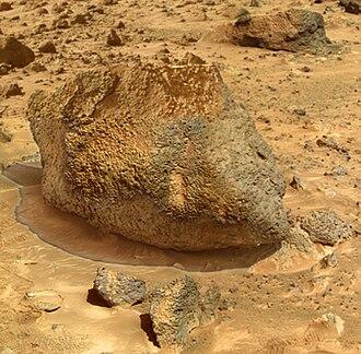 Yogi Rock - Image: NASA Mars Rock Yogi Super Res