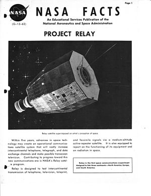 Relay program - Image: NASA FACTS PROJECT RELAY G 12 62 page 01