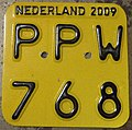 NETHERLANDS 2009 -SCOOTER PLATE - Flickr - woody1778a.jpg