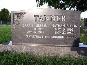 Nathan Eldon Tanner - Image: N Eldon Tanner Grave