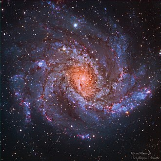 NGC 6946 - RGB image of the galaxy NGC 6946  from the Liverpool Telescope