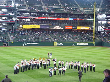 NHS Band at Seattle Mariners Opening Day