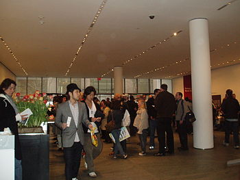 The Entrance of New York's Museum of Modern Art