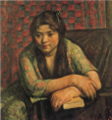NakamuraTsune-1914-A Girl.png