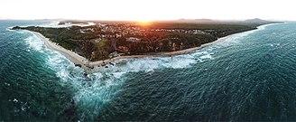 Nambucca Heads, New South Wales - Nambucca Heads aerial panorama - sunset in 2018