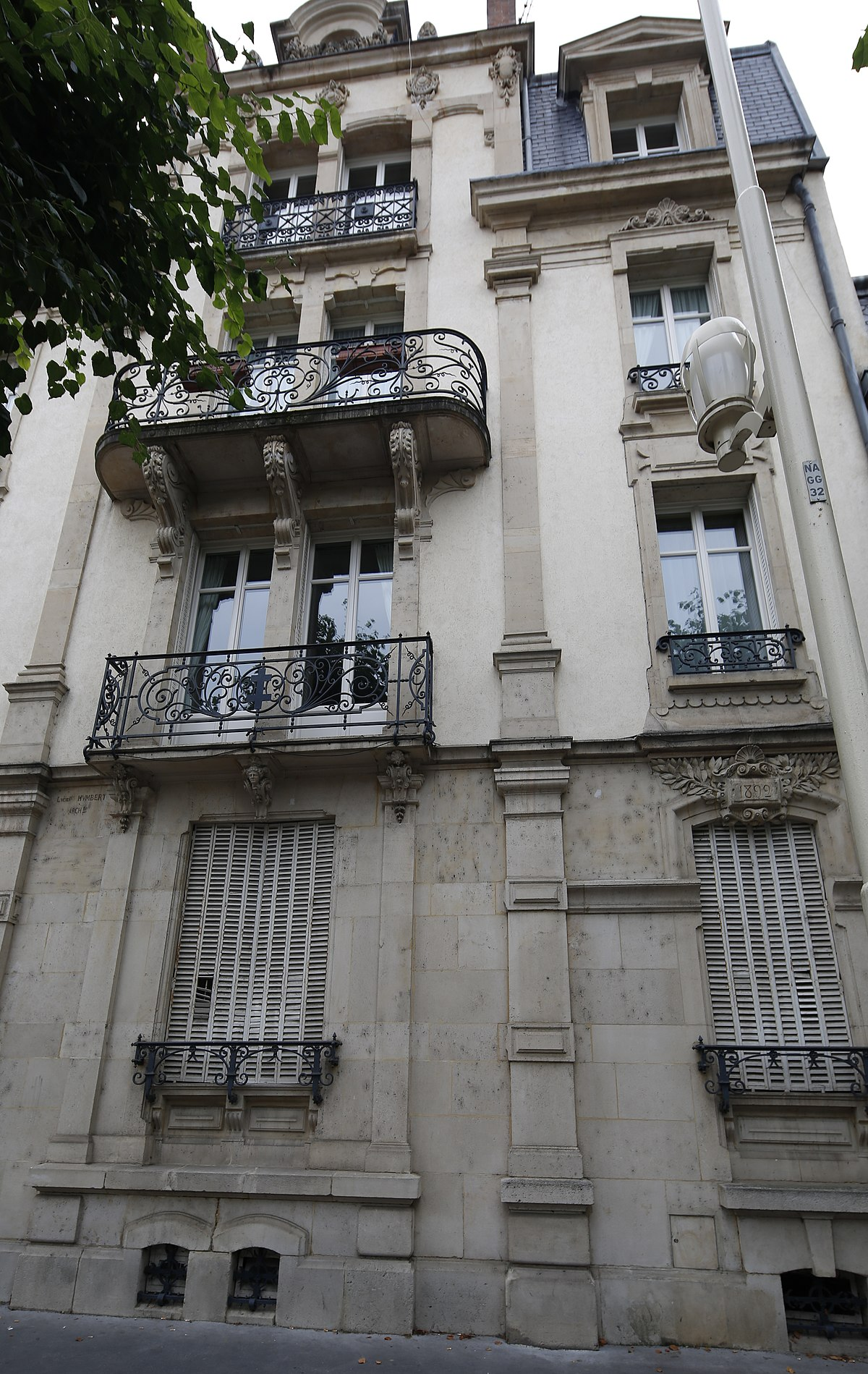 Rue grandville wikip dia for Rue catherine opalinska nancy