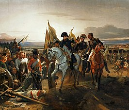 Napoleon at the Battle of Friedland, door Horace Vernet
