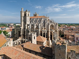 Narbonne Cathedral - Narbonne Cathedral, seen from the Gilles Aycelin donjon