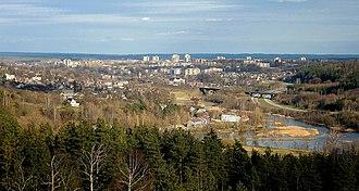 Naujoji Vilnia - Naujoji Vilnia as seen from surrounding hills