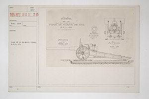 15 cm SK L/40 naval gun - Gun plan for a field mounting