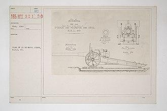 15 cm SK L/40 naval gun - Gun plan for a field mounting
