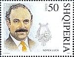 Ndrek Luca 2004 stamp of Albania.jpg