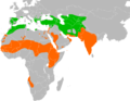 Neophron percnopterus distribution.png