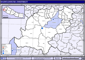 Dadeldhura District - Map of the VDCs in Dadeldhura District