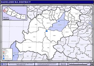 Inner Terai Valleys of Nepal - Map of the VDCs in Dadeldhura District