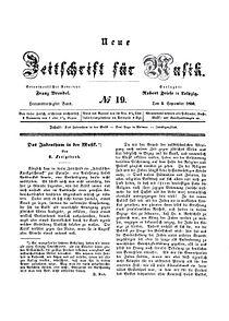 Neue Zeitschrift für Musik 1850 Jg17 Bd33 Nr19 Titel.jpg