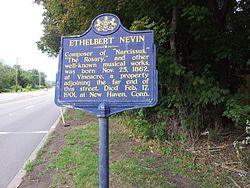 Photo of Ethelbert Nevin blue plaque