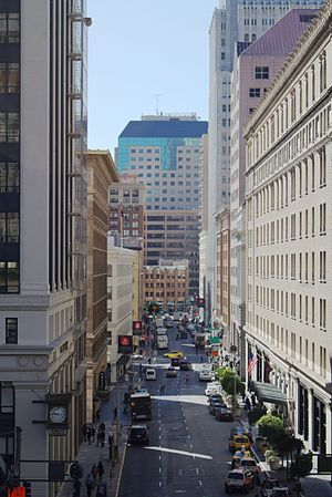 New Montgomery Street - New Montgomery Street, seen facing south across its Market Street terminus