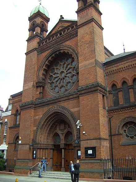 New West End Synagogue, Bayswater, London New West End Synagogue exterior.JPG